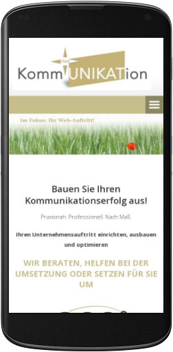 Mobile Website hm-kommUNIKATion