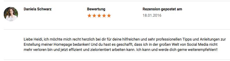Kundenstimmen Google MyBusiness Bewertung hm-kommUNIKATion